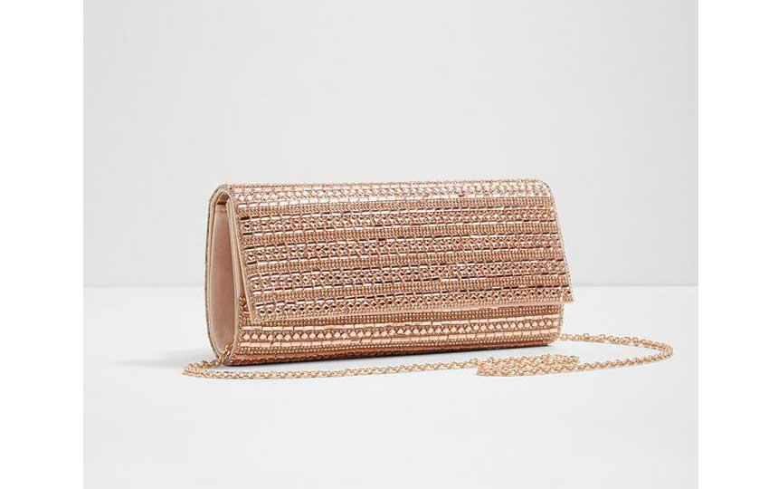 حقيبة المناسبات - حقيبة ذهبية من ماركة ألدو
