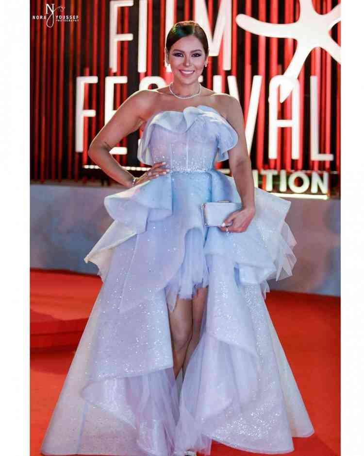 فستان لقاء الخميسي من مهرجان الجونة 2019