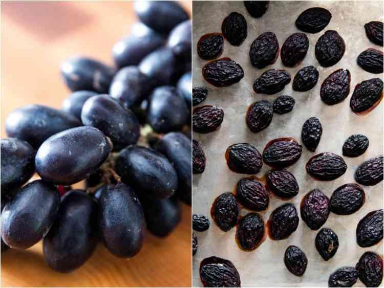 تجفيف العنب في الفرن