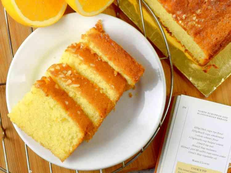 طريقة عمل كيكة البرتقال بدون بيض