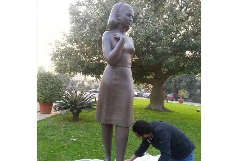 تمثال فاتن حمامة في الأوبرا