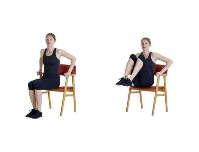 تمارين الكرسي رفع الساقين