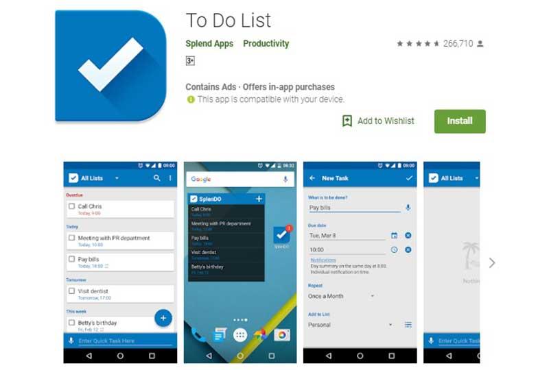 تطبيق To do list