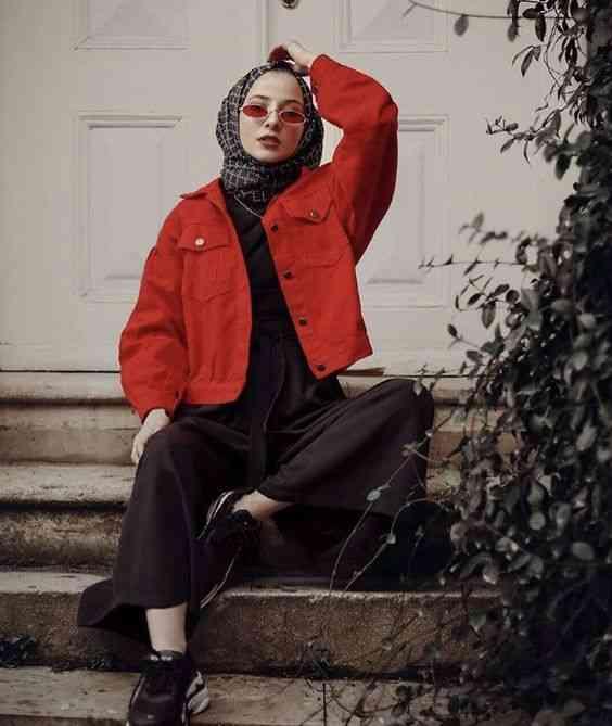 أزياء محجبات تركية جاكيت