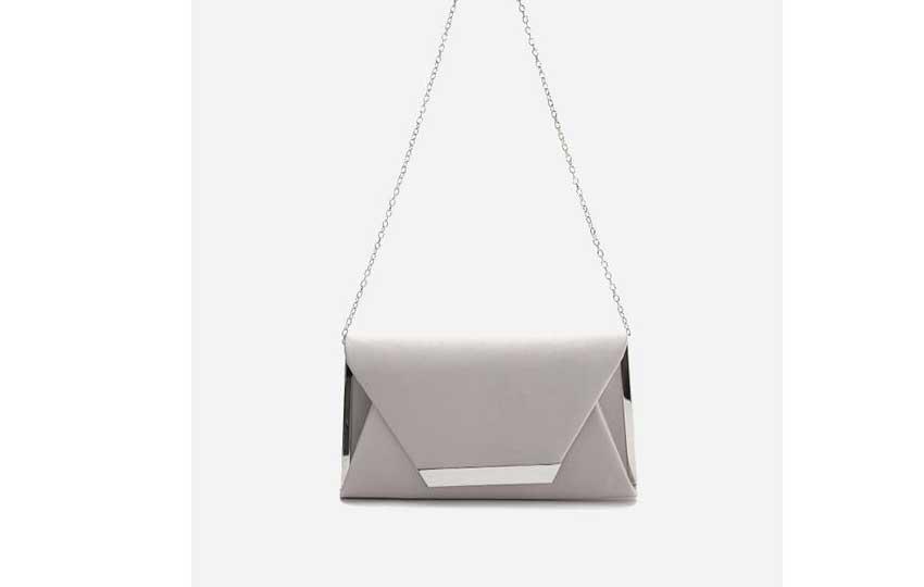 حقيبة للمناسبات - حقيبة مستر جو باللون الفضي