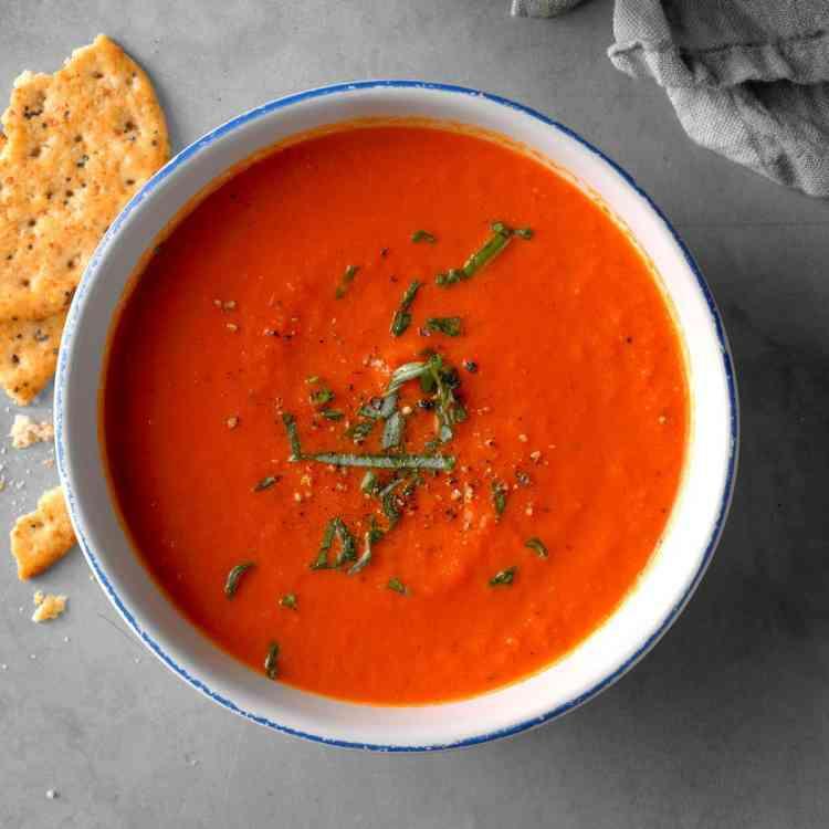 طريقة عمل شوربة الطماطم