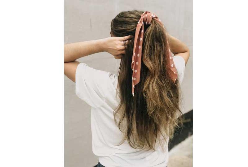 تسريحات شعر بسيطة تسريحات بالسكارف