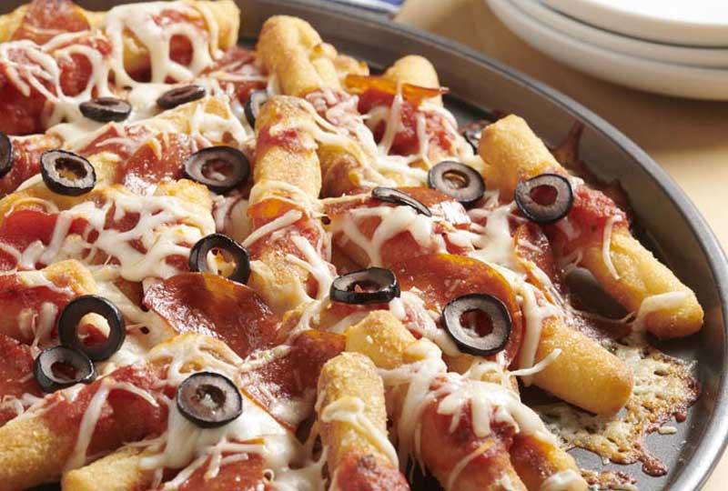 طريقة عمل البيتزا فرايز بيتزا