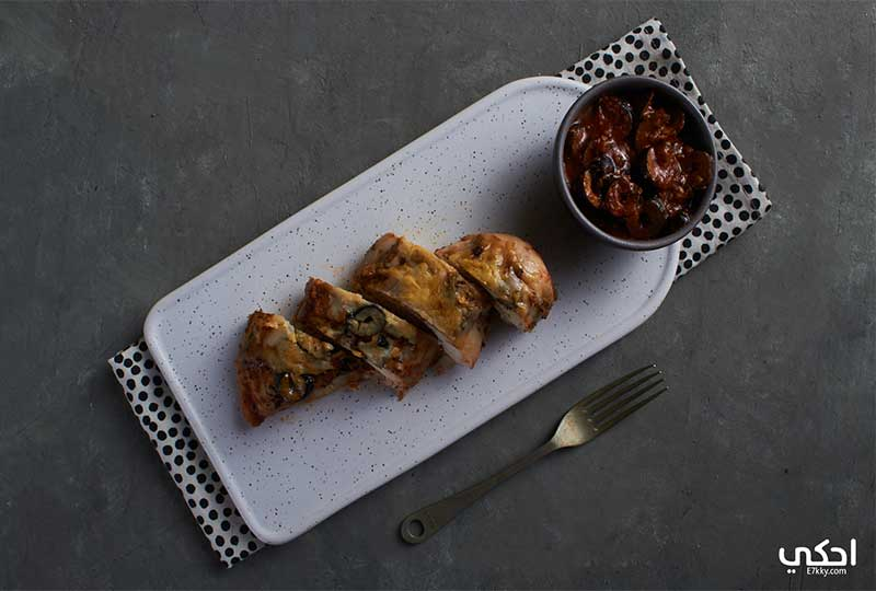طريقة عمل دجاج بالبرميزان والزيتون الأسود