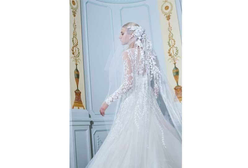 فساتين زفاف 2019 بالورود