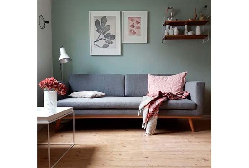 غرفة معيشة اخضر هادي