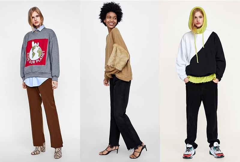 موضة شتاء 2019 السويت شيرت من Zara
