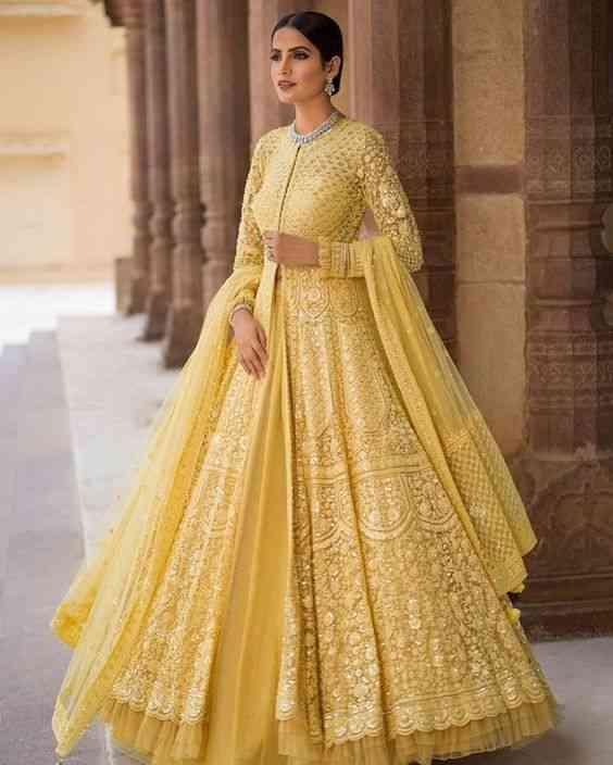 فساتين هندية أصفر