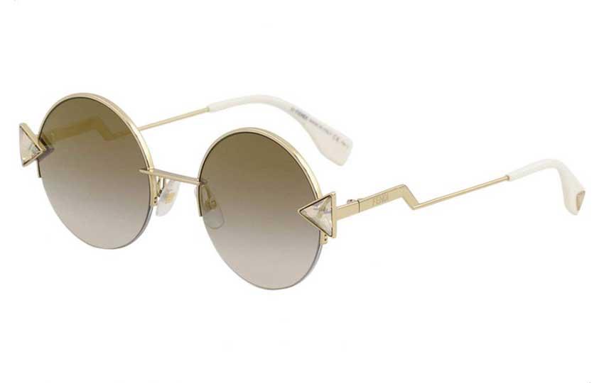 نظارة دائرية من فندي