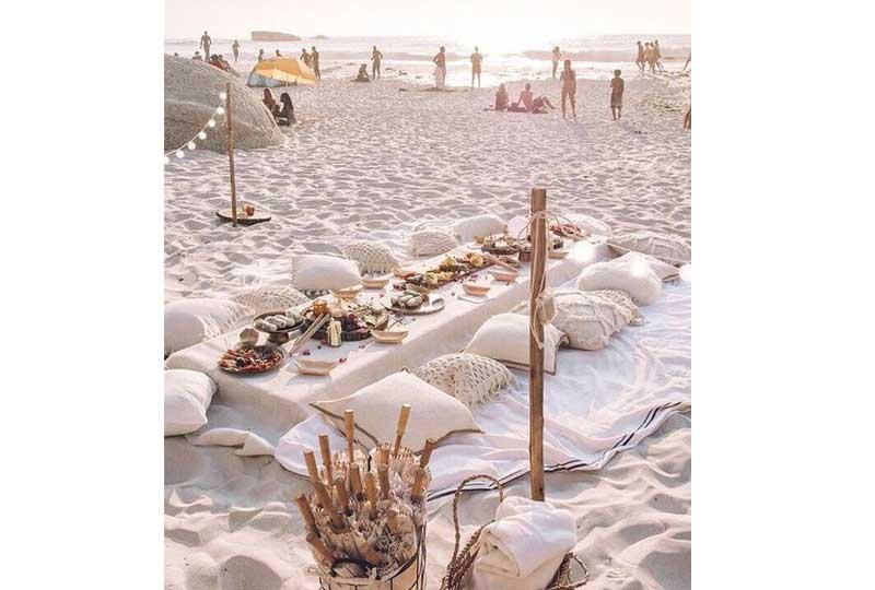 ديكور زفاف على البحر