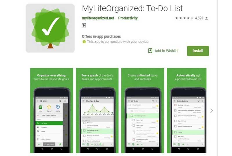 تطبيق My life organized