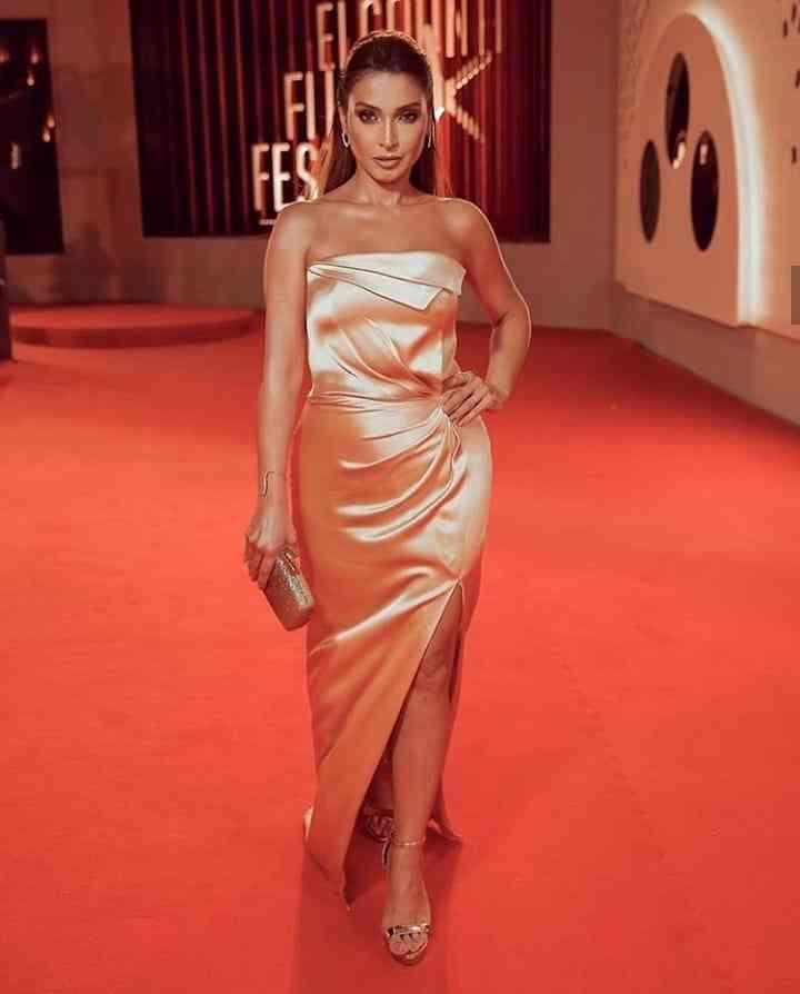 فستان روجينا من ملك العزاوي في مهرجان الجونة السينمائي 2019