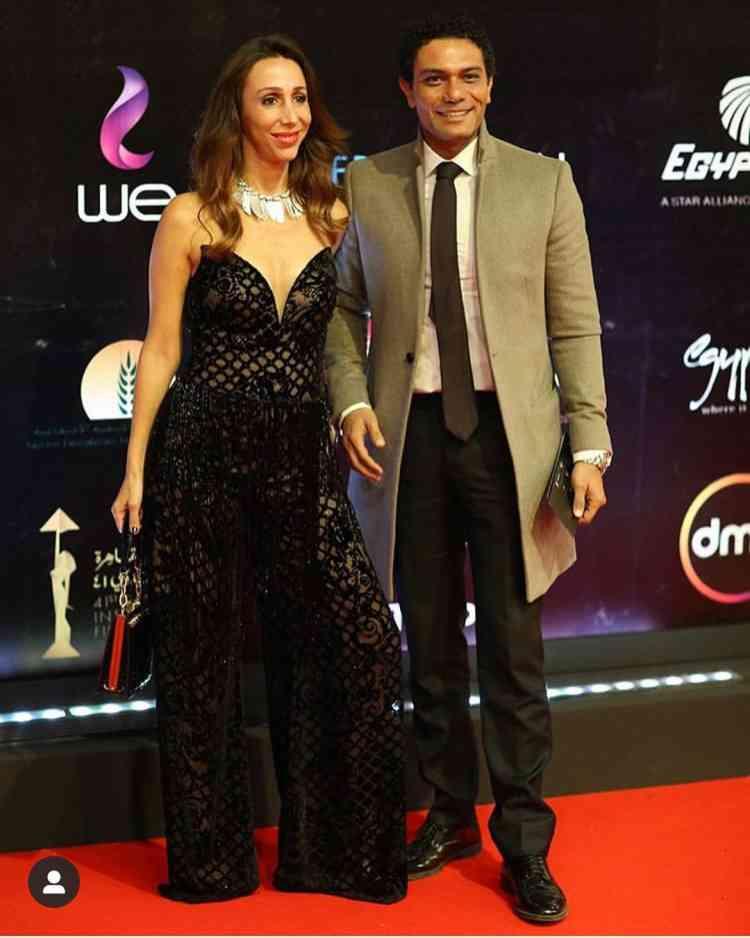 آسر ياسين وزوجته في مهرجان القاهرة السينمائي 2019
