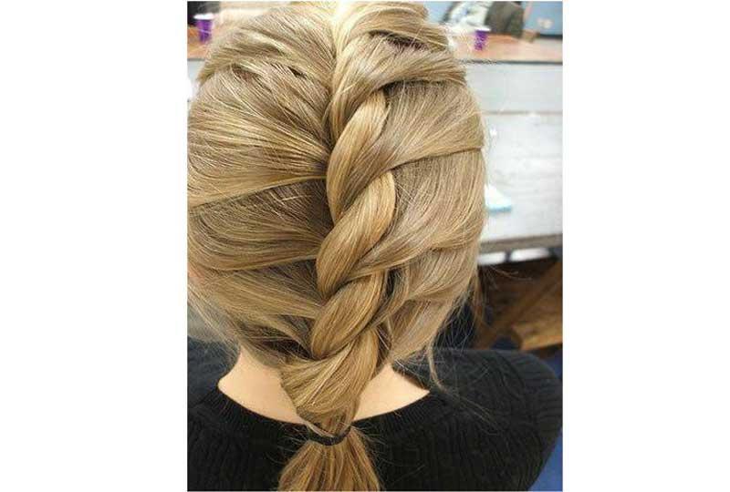 تسريحات شعر بسيطة تسريحة الحبل المعكوس