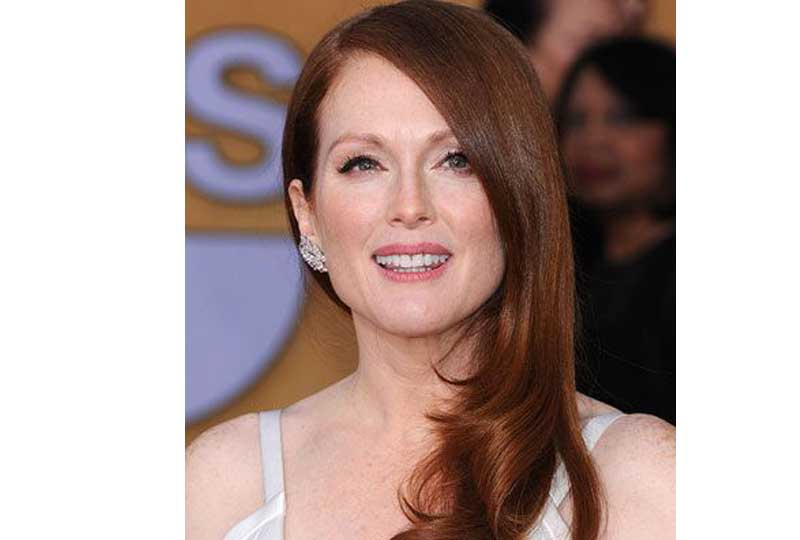 ألوان صبغات الشعر اللون الأحمر المائل للنحاسي للشعر متوسط الطول
