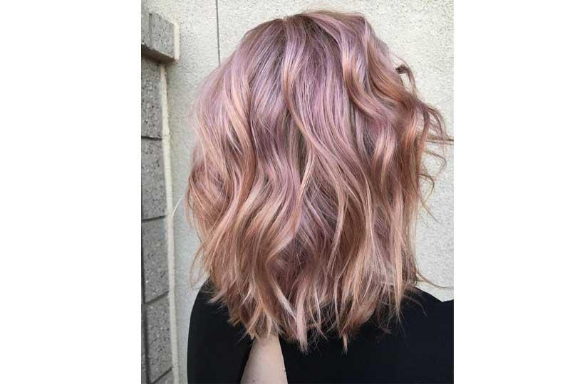 ألوان صبغات الشعر هايلايت باللون الموف