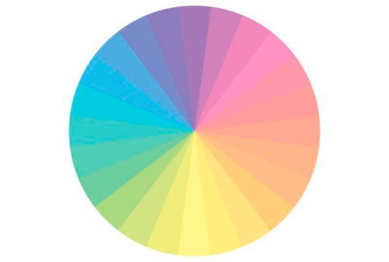 دائرة ألوان الباستيل