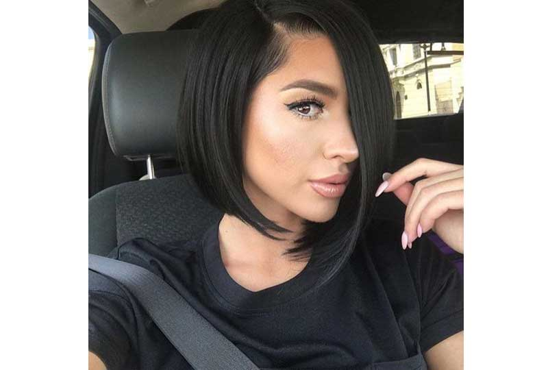 تسريحات شعر للشعر الخفيف تسريحة شعر غير متماثلة