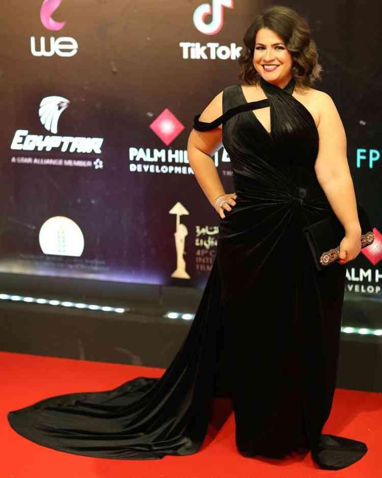 فستان إنجي وجدان في مهرجان القاهرة السينمائي 2019