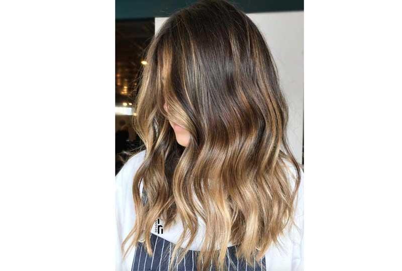 ألوان صبغات الشعر الكراميل المائل للبني