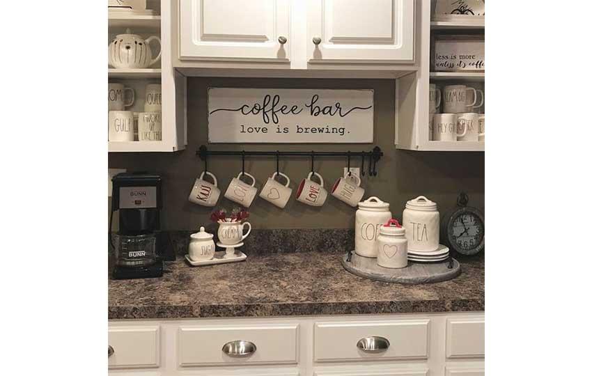 ركن قهوه بسيط