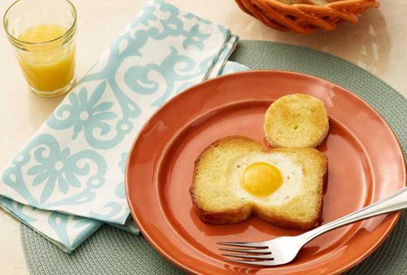 وجبات خفيفة للدايت بيضة مقلية وتوست أسمر