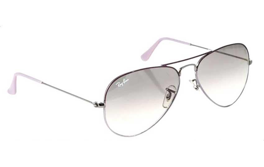 نظارة شمس راي بان باللون الأرجواني