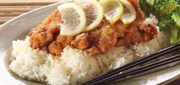 طريقة عمل أرز السمك المقلي