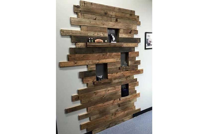 ديكورات حوائط خشبية لغرفة المعيشة
