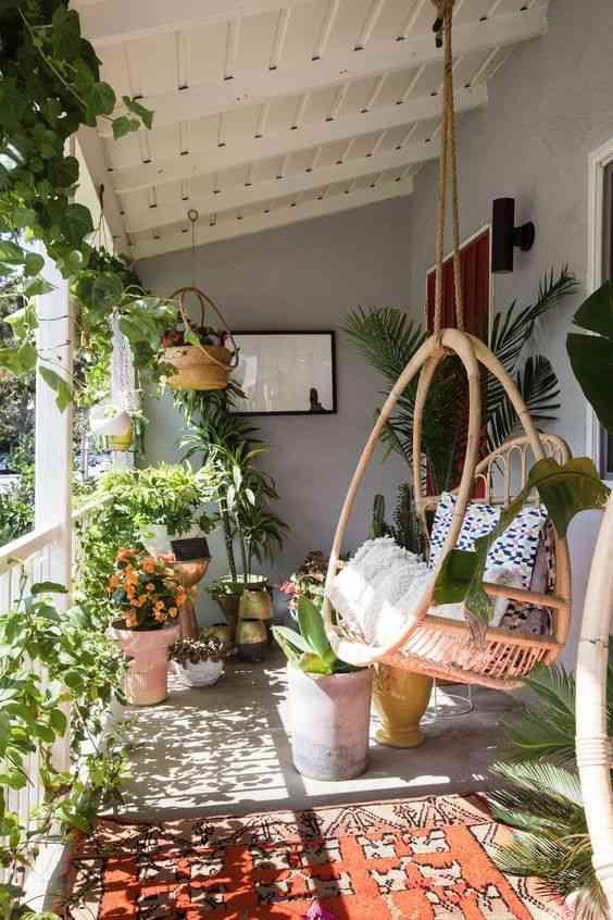 ديكورات بلكونة بالنباتات