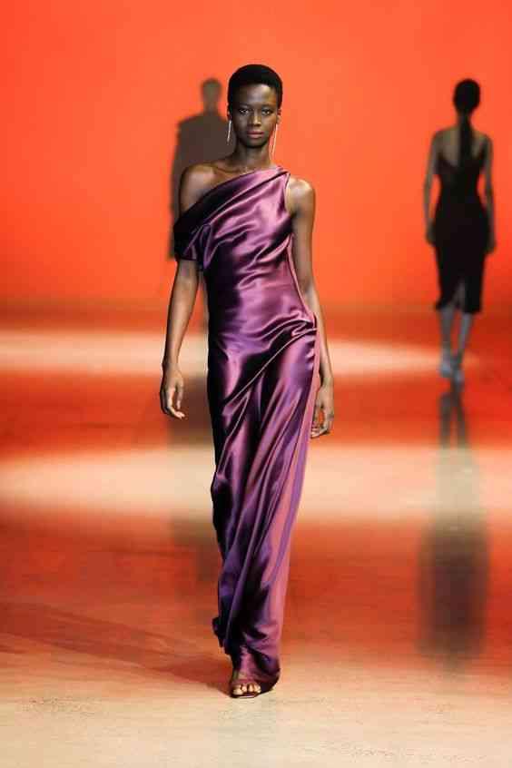 موضة فساتين 2020 فستان مستقيم بكتف واحد