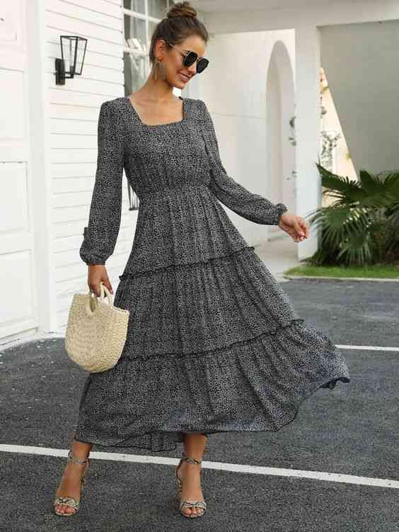 أنواع الفساتين فستان A-Line بكم