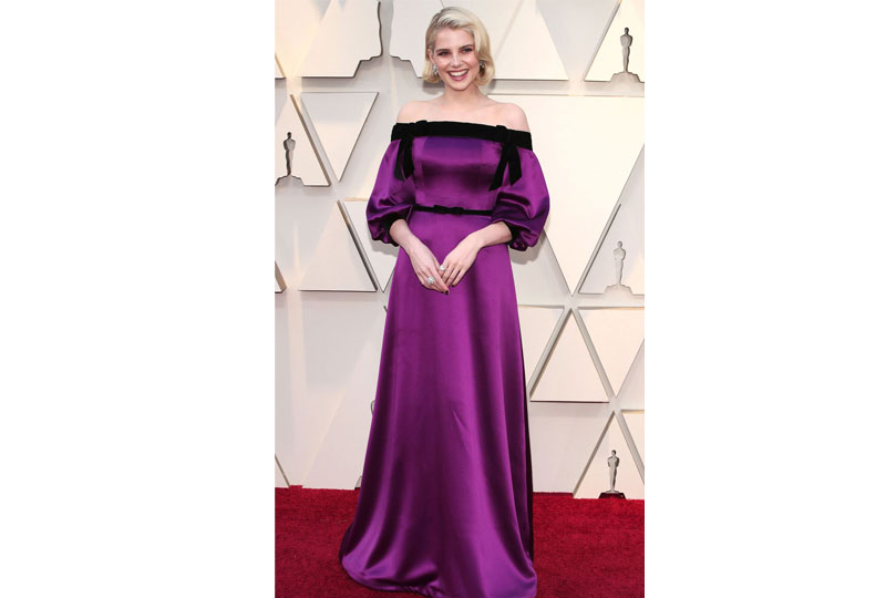 فساتين الأوسكار 2019 فستان لوسي بوينتون