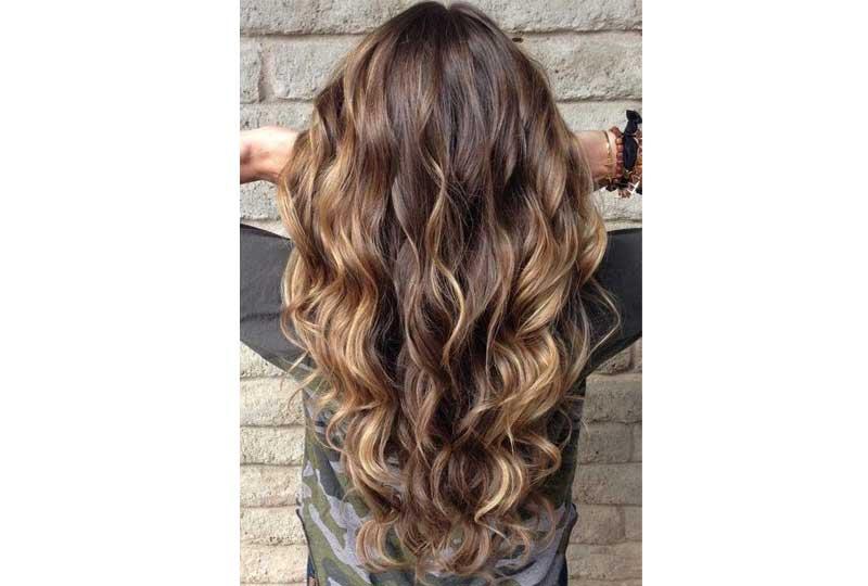 ألوان صبغات الشعر الأومبر المائل للبني الداكن للشعر الويفي