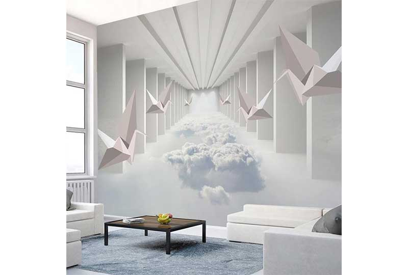 أشكال مختلفة لورق الحائط تضفي الشعور بالاتساع