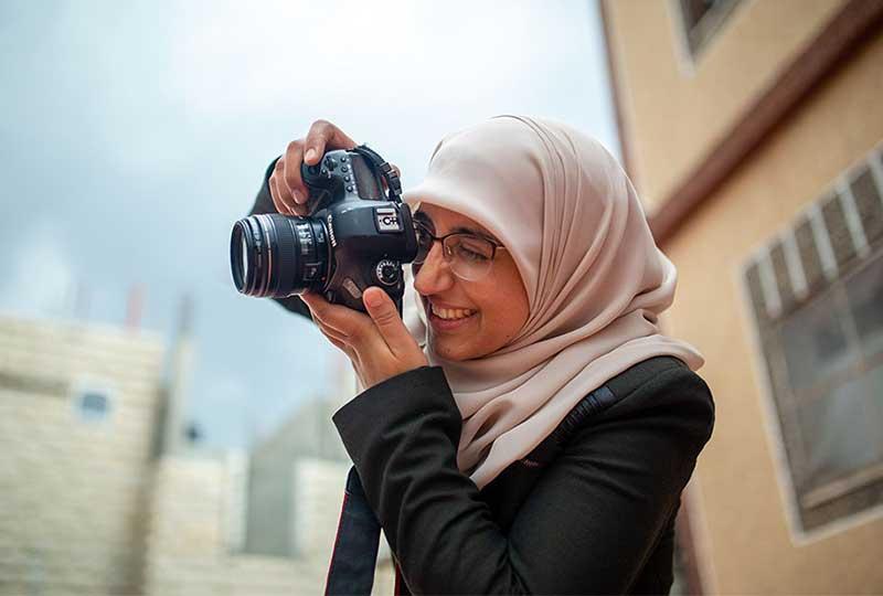 مصورة فلسطينية