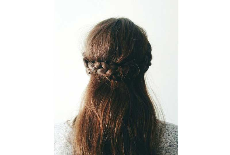 تسريحات شعر بسيطة تسريحة ضفيرة التاج