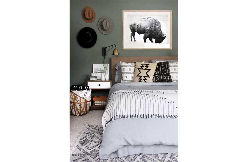 ألوان غرف نوم باللون الأخضر