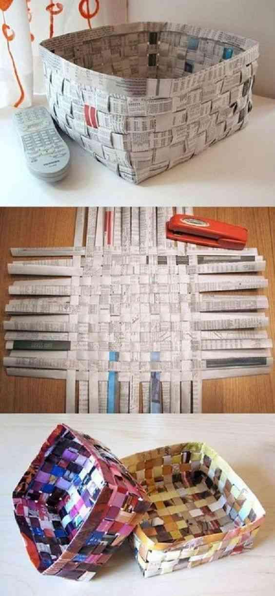 إعادة تدوير ورق الجرائد