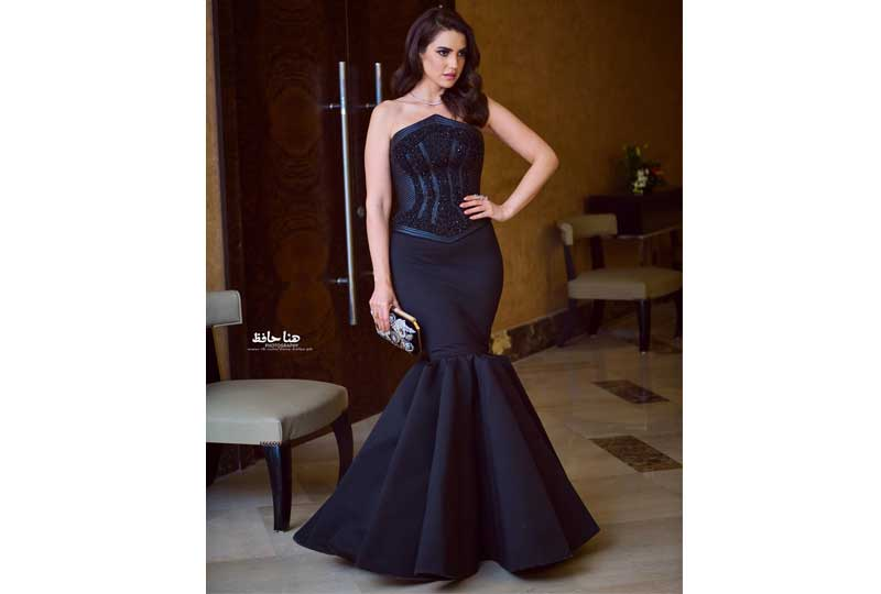 فساتين درة زروق فستان درة الأسود