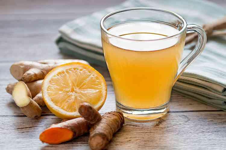 مشروبات صحية شاي الزنجبيل والليمون والنعناع