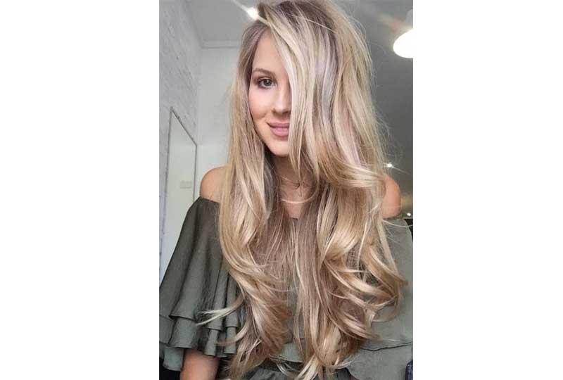 ألوان صبغات الشعر اللون الذهبي الكريمي للشعر الطويل