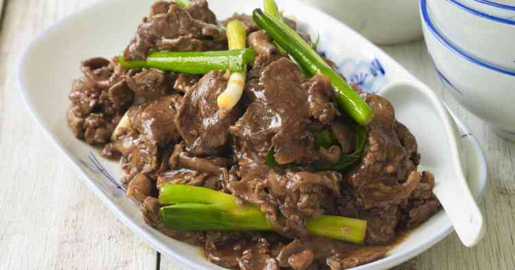طريقة عمل أكل صيني لحم بصوص المحار