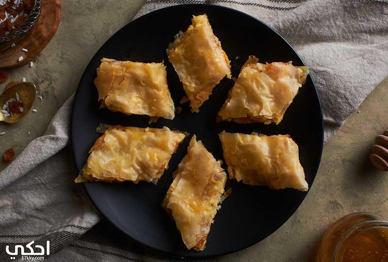 طريقة عمل الجلاش الحلو بالجبنة