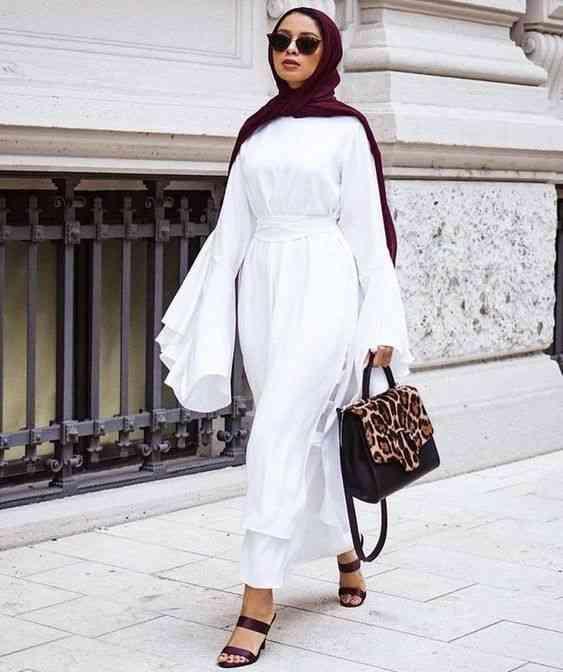موضة صيف 2020 فستان أبيض